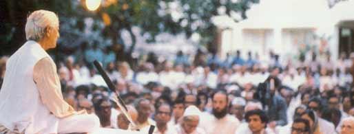 Krishnamurti conférence en plein air