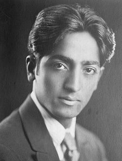 Krishnamurti dans les années 1920